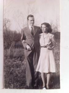 My father, Hugh Riordan, and my mother, Ethel, while they were dating.